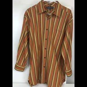 Tommy Hilfiger 80s 2Ply Fabric Lg Striped Shirt